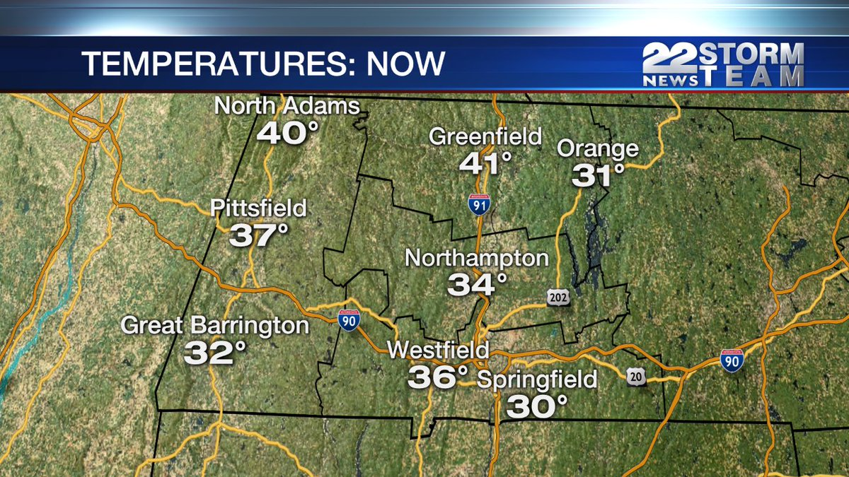 A chillier start this morning with temperatures mostly in the 30s. Tracking cooler days ahead on 22News 6-7am https://t.co/SUfiLMKsw5