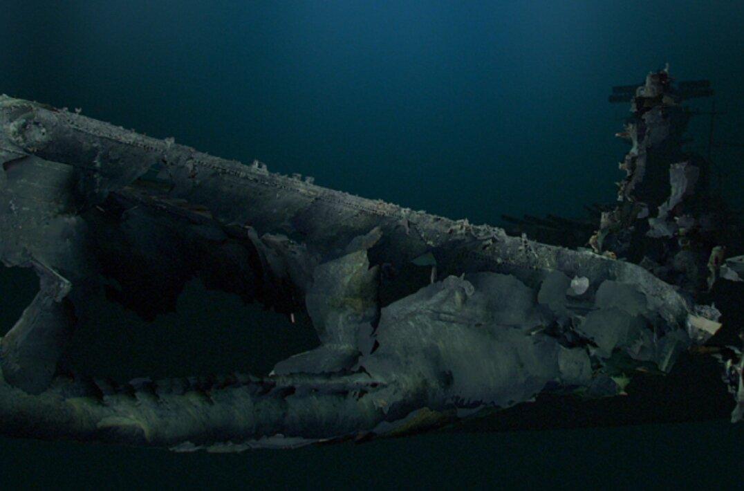 """戦艦武蔵のCGなのに宇宙戦艦ヤマトにしか見えない僕は病気ですか?(^o^;)戦艦武蔵の最期~映像解析 知られざる""""真実"""""""