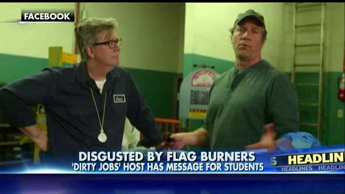 Mike Rowe to Flag-Burning Students: If You Hate America, Don't Accept Federal Aid! @foxandfriends https://t.co/CEyMj2y6Xq