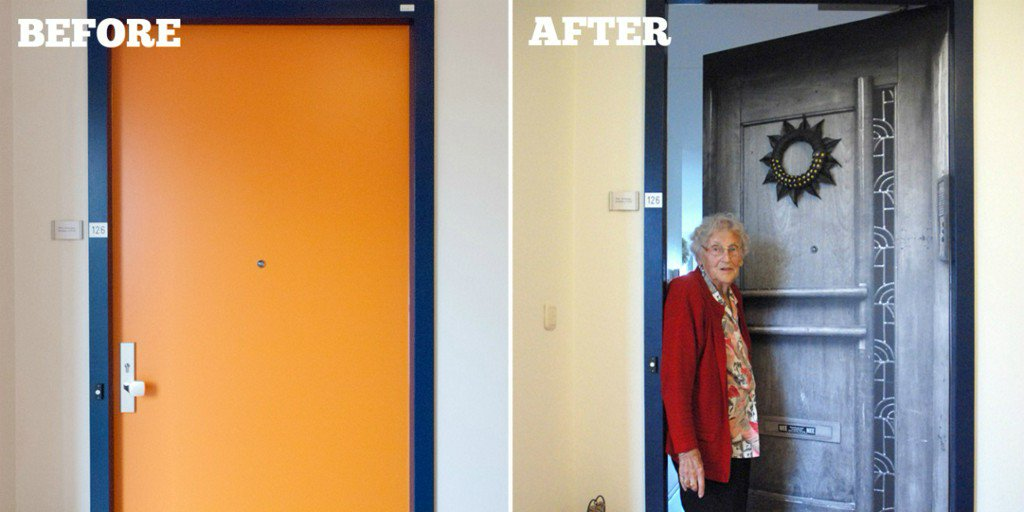 Custom Door Makeovers Give Dementia Patients a More Comfortable Living Environment