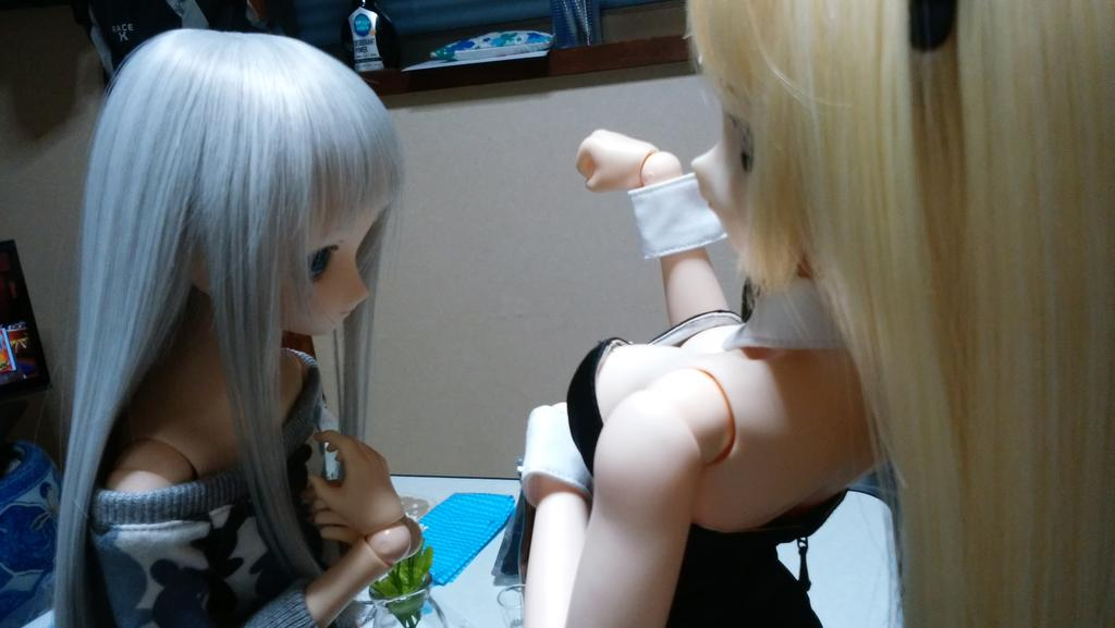 秩父夜祭り ~番外~めん:たまちゃん、その胸?!たま:ふっふ~ん☆これが・・・めん:これが?たま:乳父夜祭りにゃ!!めん