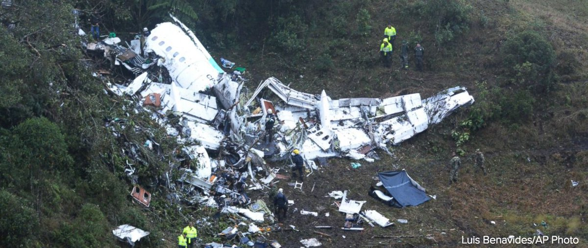 Colombia plane crash survivor cried out for his crew moments after being pulled from the wreckage. https://t.co/uZZ78Tm21w