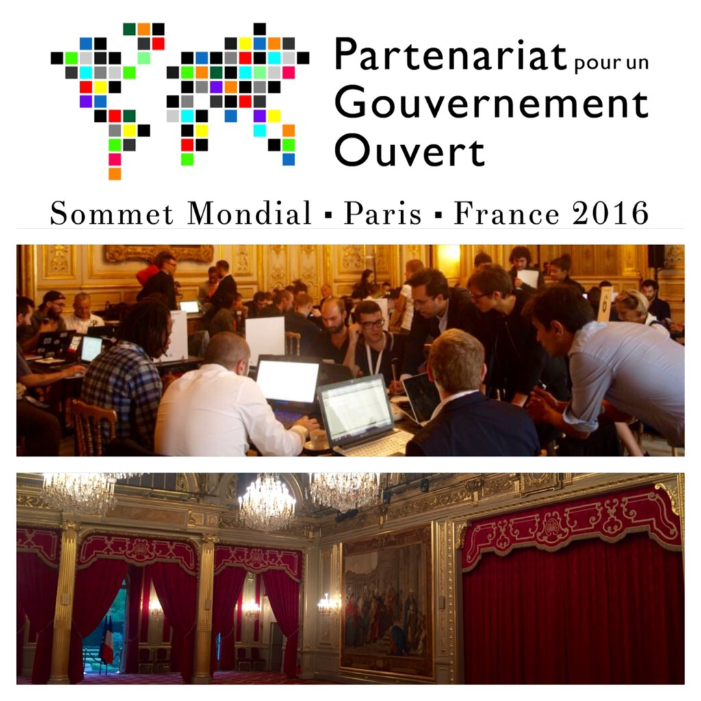 C'est @Elysee que débutera le hackathon du Sommet mondial du Partenariat pour un Gouvernement Ouvert #OGP16 le 7/12! https://t.co/od0mHzwokN