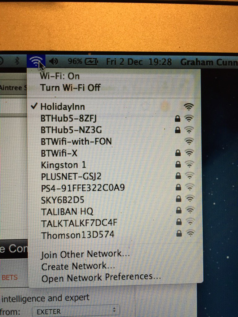 Think I might have stumbled on something while looking for the hotel wifi network https://t.co/zsFRPpCc9J