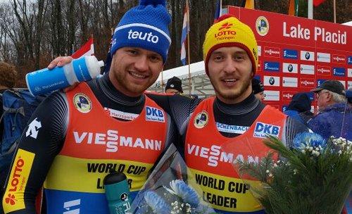 @EggertBenecken feiern 19. Weltcupsieg im @Viessmann_Sport Rennrodel Weltcup der Doppesitzer in Lake Placid https://t.co/6tx9i0haM3
