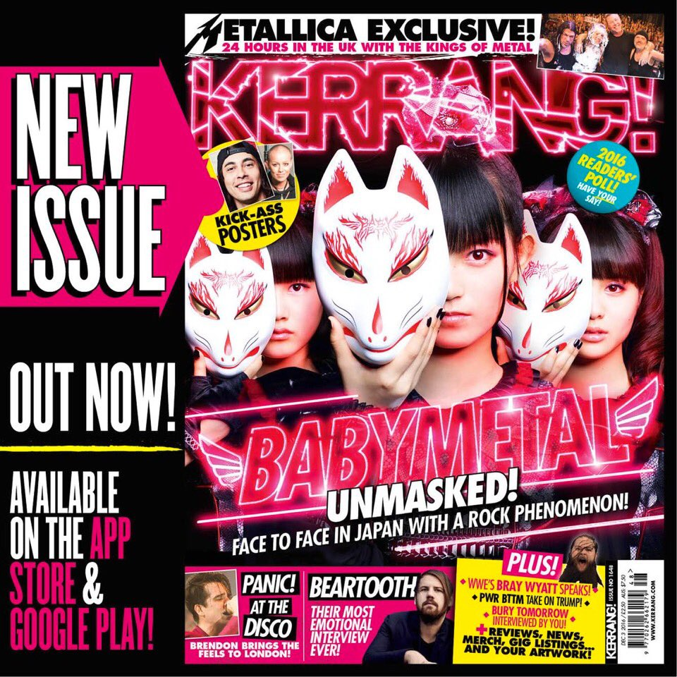 New issue #Kerrang! available on https;//t.co/xWFsonywTi #BABYMETAL #chilipeppers #gunsnroses htt...