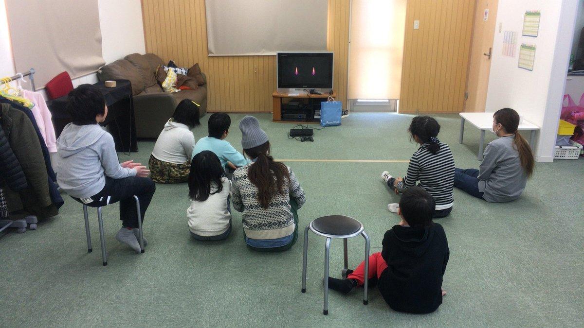 今日は「ビデオ観賞」で「バケモノの子」を観ました。今まで見ていたドラえもんなどの映画よりも長い、2時間程の映画でしたが、