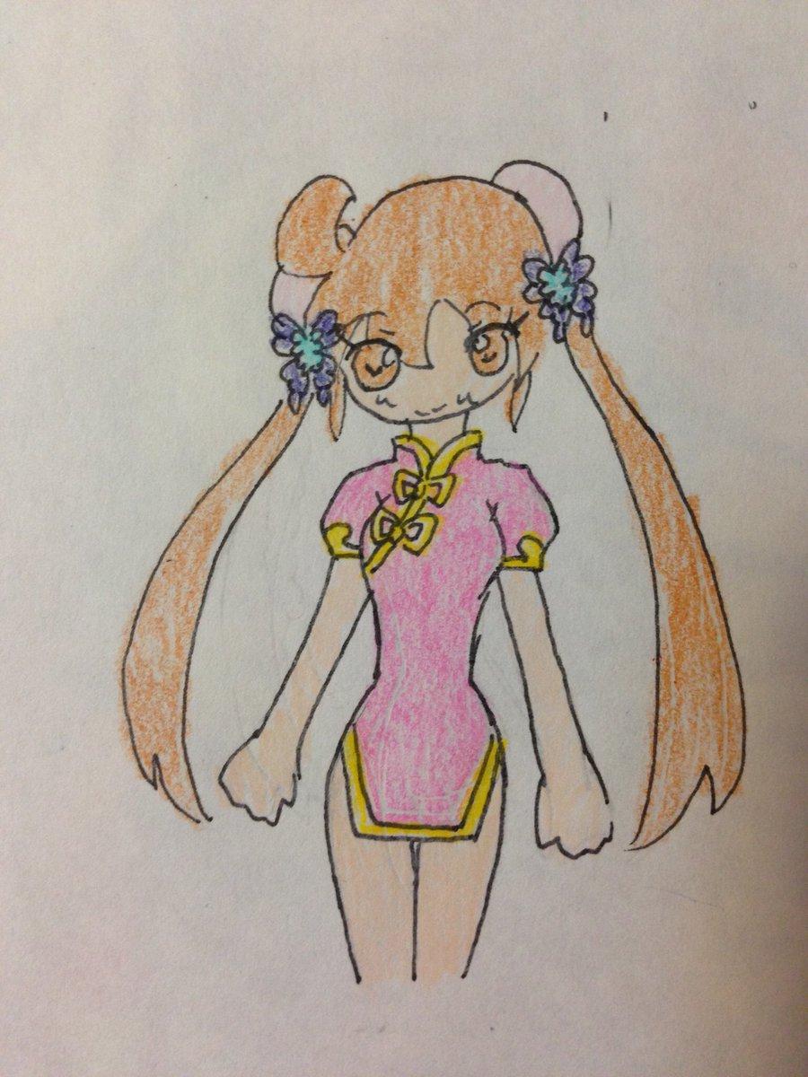 ヒーローバンクのアイチャイナドレス派生衣装  #女神のドレスデザインで再現して欲しい衣装 #女神のドレスデザイン #メガ
