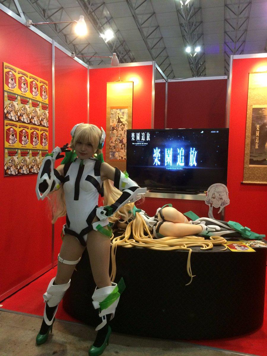 東京コミコン『正解するカド』『楽園追放』ブース(E-16)にアンジェラ登場。#東京コミコン #正解するカド #楽園追放#