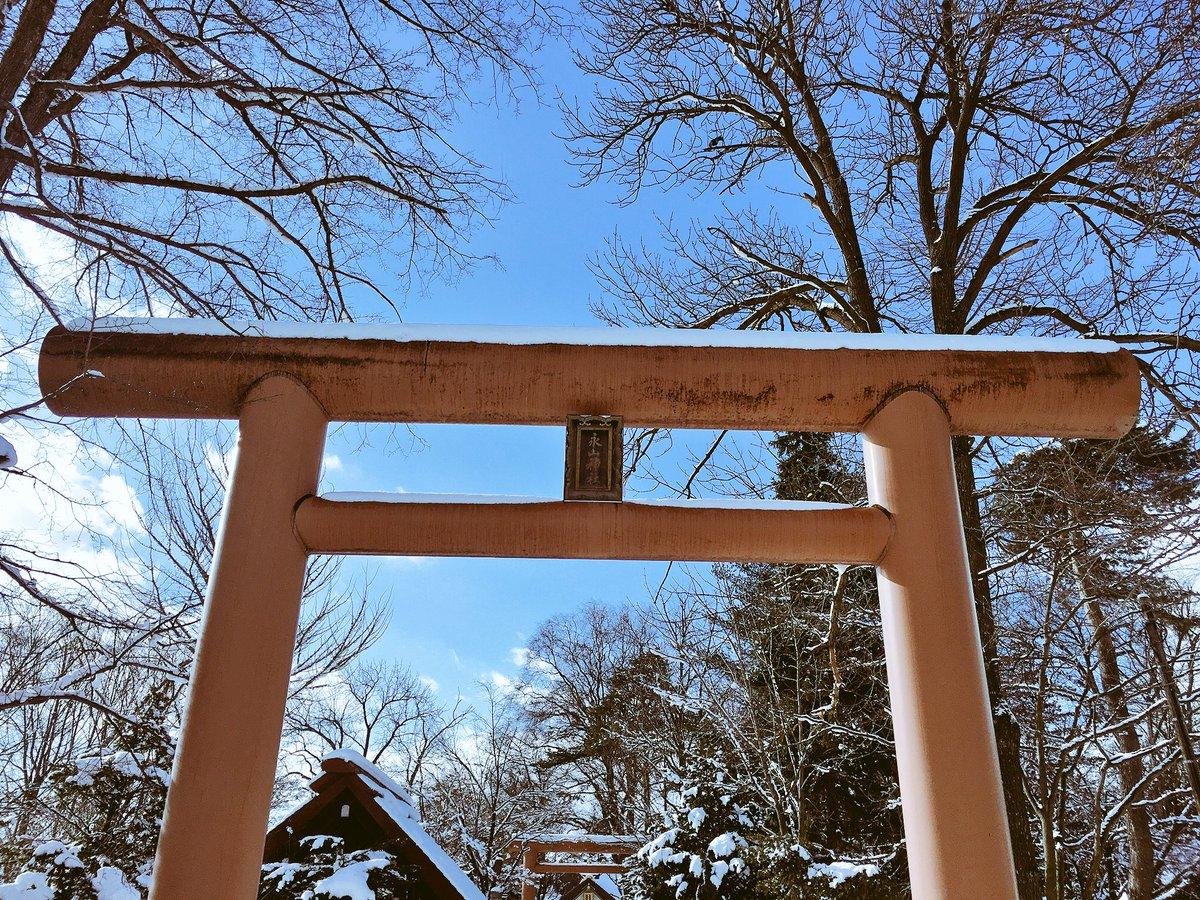 宮司…アニメ化しておる!#旭川 #永山神社 #宮司 #櫻子さんの足下には死体が埋まっている #聖地巡礼 #鳥居 #ロケ