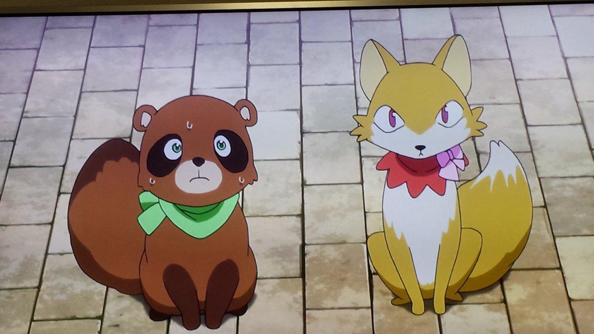 【装神少女まとい】か、可愛い!!!キツネ、タヌキのイメージはポンチコンチなんだよな。