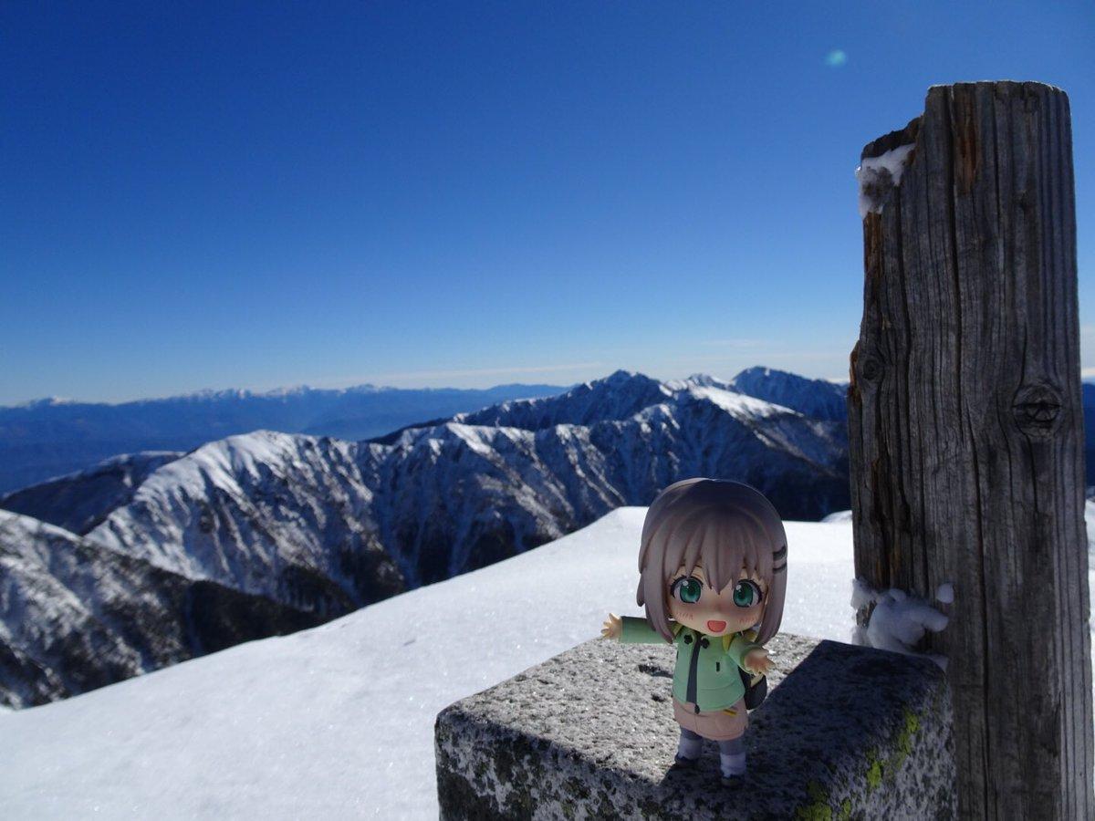 #ヤマノススメ#ヤマノススメ三期熱望中央アルプスの三ノ沢岳、フラッグを掲げて初登頂&無事下山!空木岳にいたる主稜