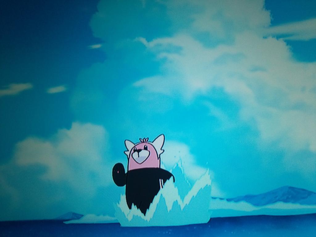 ポケモンのシーンでなんかこれっぽいのどこかで。。。と思ったらミタゾノさんなら水上でも走れるんじゃないかと思ってしまったw