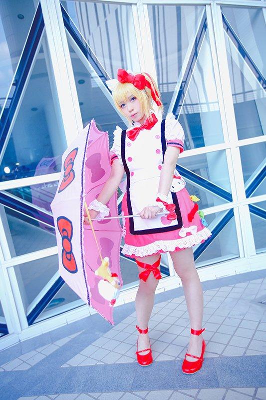 Hello Kitty エドナだよ~全身上下和道具都自己製的滿足感好大!(其實是TO的衣服好難訂, 畫分拆圖給店家時都自