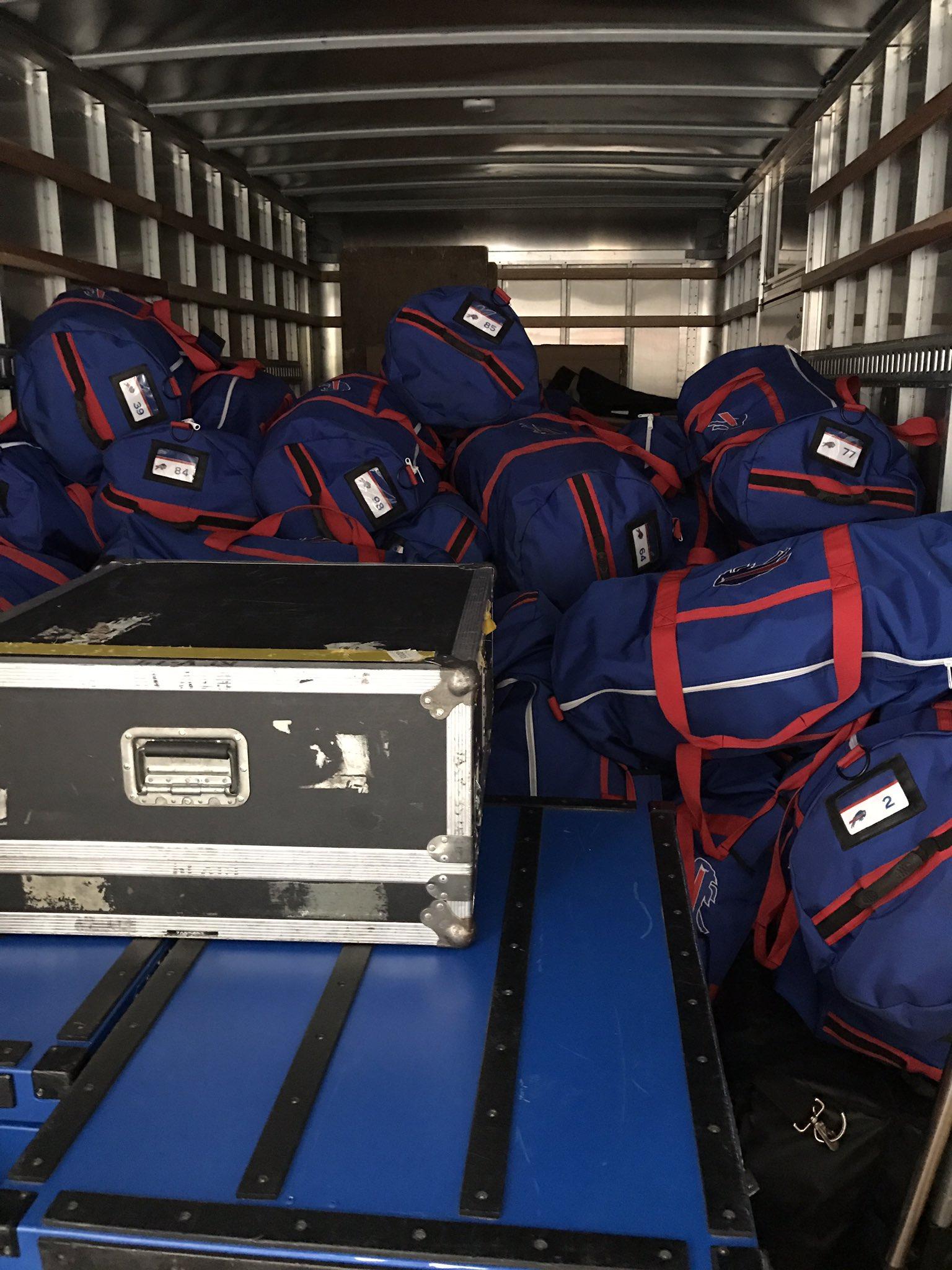 Equipment truck packed for Oakland. Go #Bills https://t.co/QKNjWoNhGs