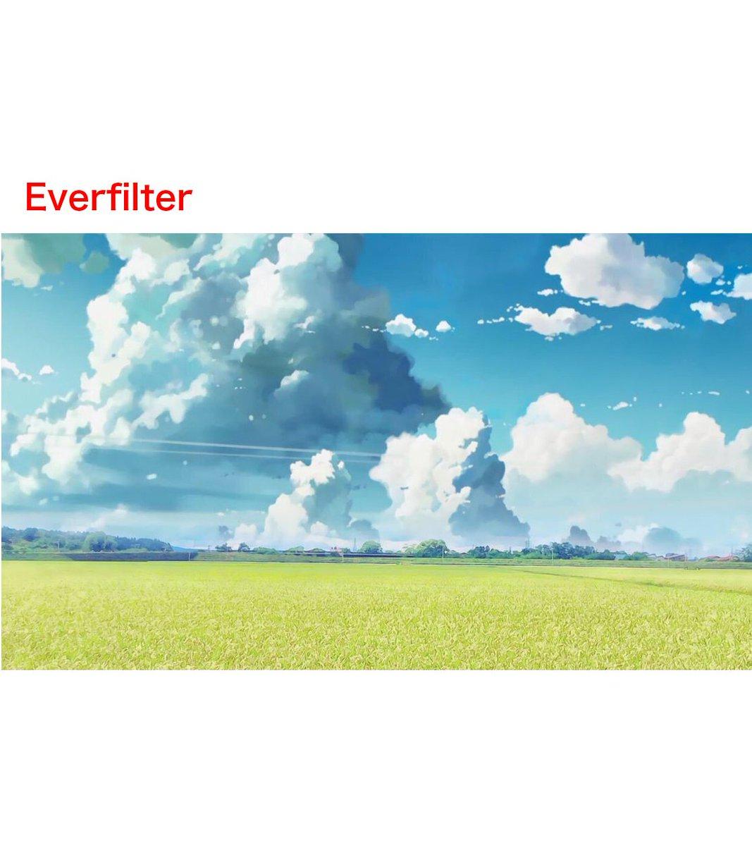 てか個人情報云々の前に、加工された雲の形完全に新海誠作品のトレスじゃねえかwそりゃ君の名はっぽくなるよね…こっちの方が問