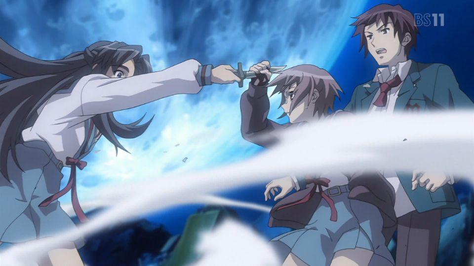 長門!手!血! #haruhi #涼宮ハルヒの憂鬱 #bs11