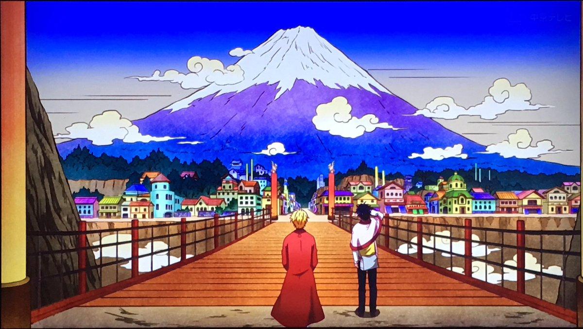 #不機嫌なモノノケ庵 4話この絵の色調?色味?なんだろ、好き。浮世絵っぽいのかな?独特な感じで好きだなー。そして、モノノ