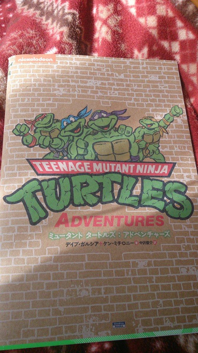ミュータントタートルズ:アドベンチャーズ、やっと買いました。早速アンケートハガキでまたアニメ版タートルズコミックの発売期