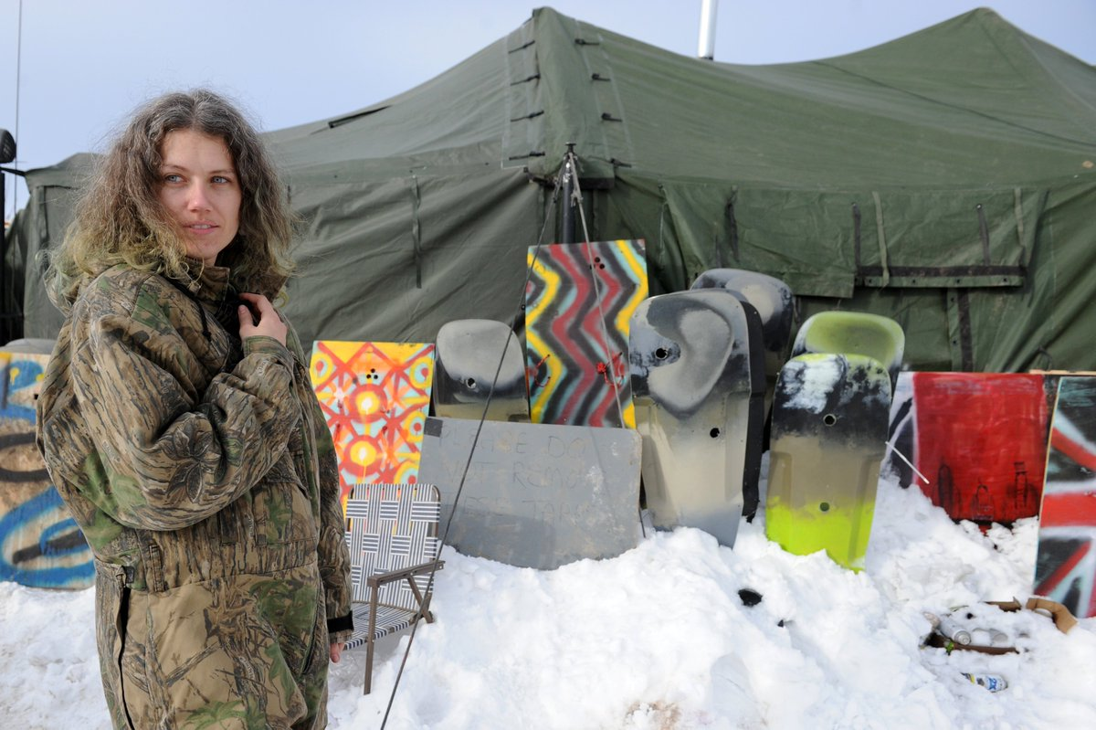 Dakota Access Pipeline protesters are not deterred by the brutal weather to come