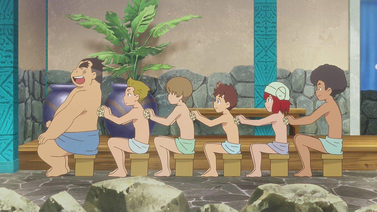 #mhst_rideon #モンスターハンターストーリーズ 10 少年たちの風呂回❤