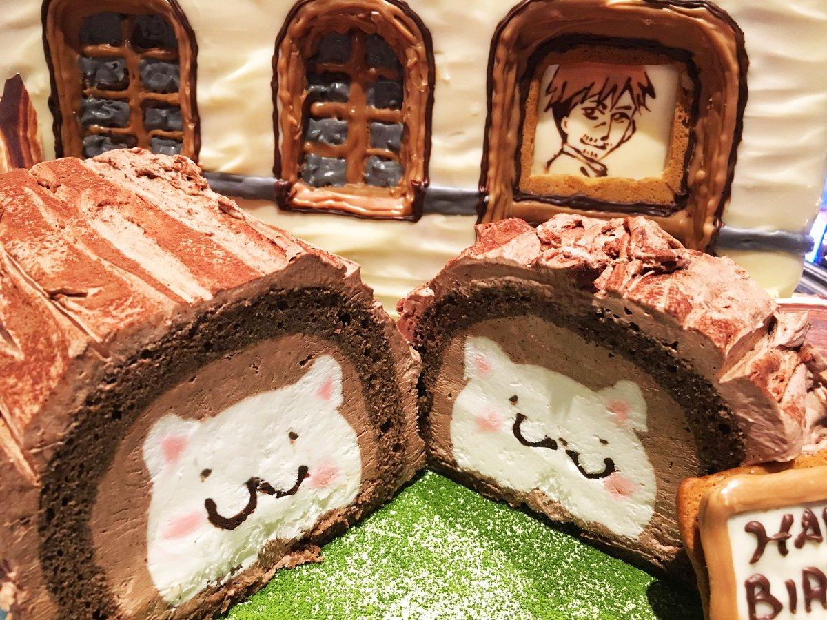 ごちうさ公式  でツイートのあったチノバースデーケーキ「ブッシュ・ド・ティッピー」の製作を担当させて頂きました。パーツを