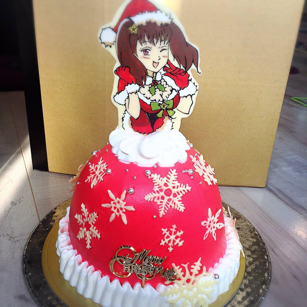 七つの大罪が大好きなお友達にクリスマスディアンヌちゃんのドールケーキを作りました。お着替えできます(*´ー`*)そして、