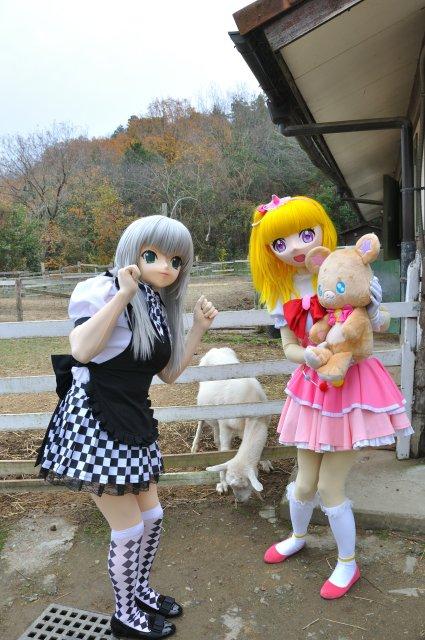 ニャル子さんとヤギさんに会ったモフ。