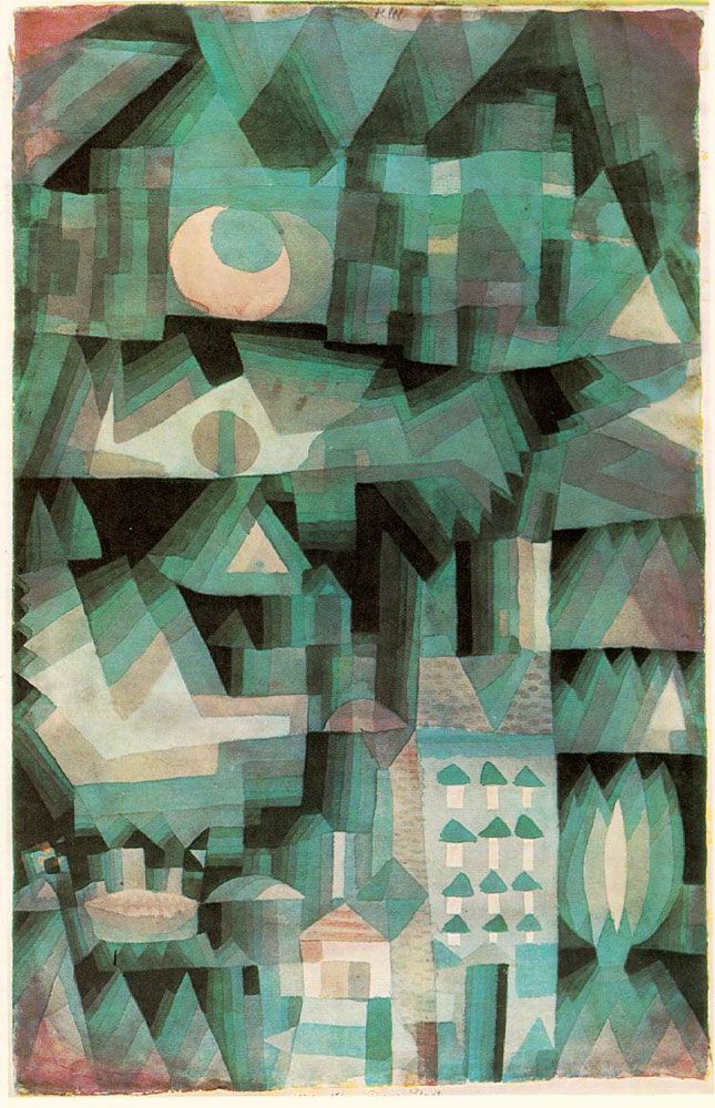 Swiss-German painter Paul Klee was born today in 1897! Enjoy his 'Dream City', painted in 1921. https://t.co/z75RMXE0V2