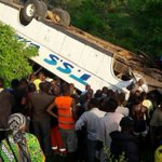 [VIDEO] Three dead, scores injured after bus plunges into valley in Kilifi