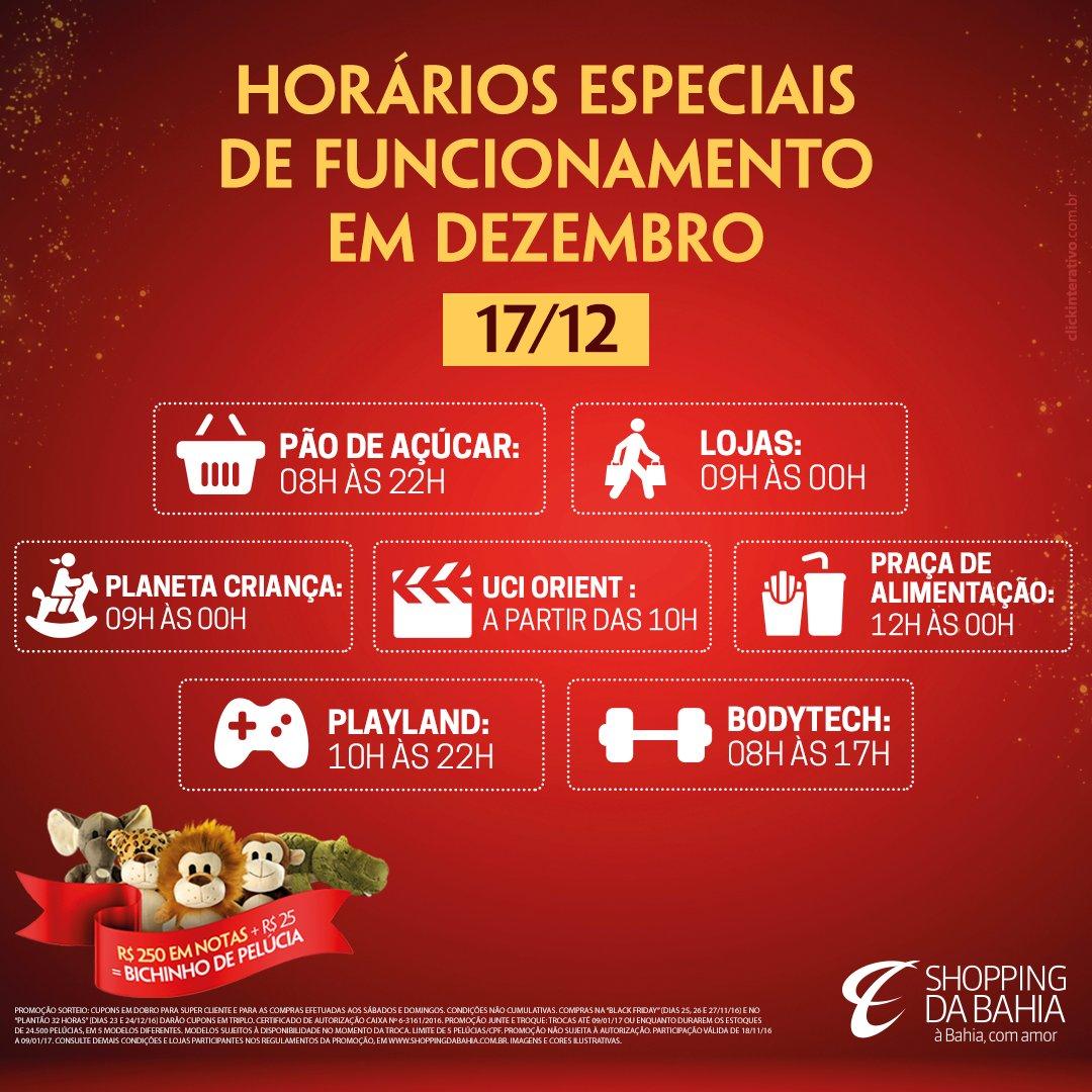 Confira nosso horário especial neste sábado (17)! #HorárioDeFuncionamento #AbreEFecha #Salvador #Bahia #ShoppingDaBahia #ÀBahiaComAmor https://t.co/R3sHUSdaBd