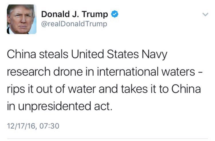 What better, more organic, Orwellian outcome than for an authoritarian ditz like @realDonaldTrump to coin it? 'He was then #Unpresidented'