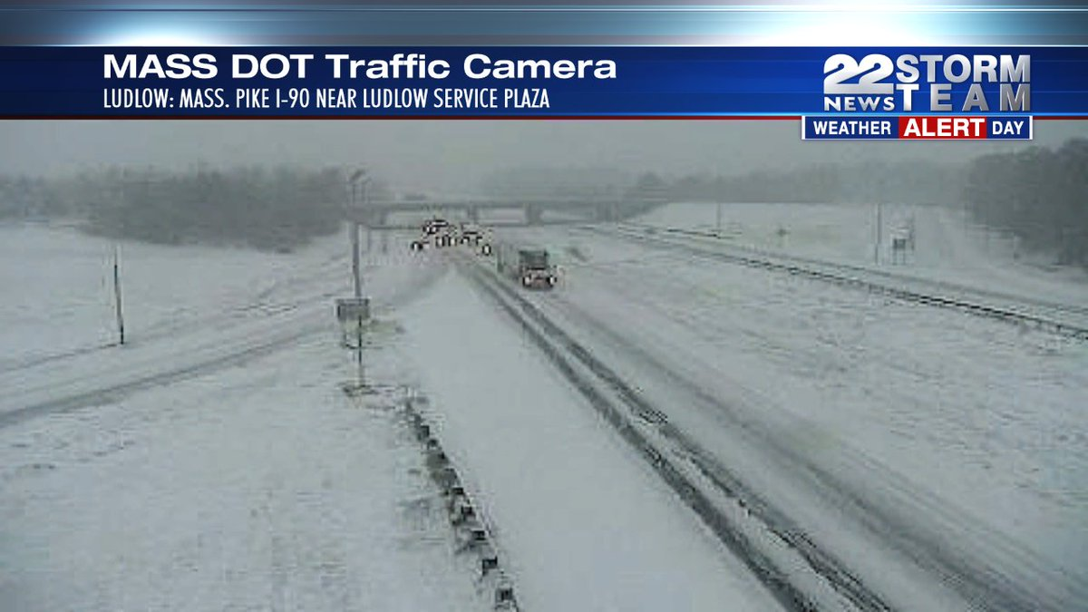 Mass Pike has been reduced to 40 MPH. Take it slow, reduce visibility, slushy roads https://t.co/5BuRZBdCNo https://t.co/1EMDXTR9et
