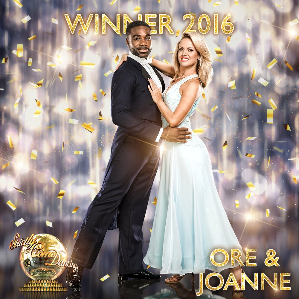 They've done it! @OreOduba and @joanneclifton #Strictly champions 2016! RT to congratulate!