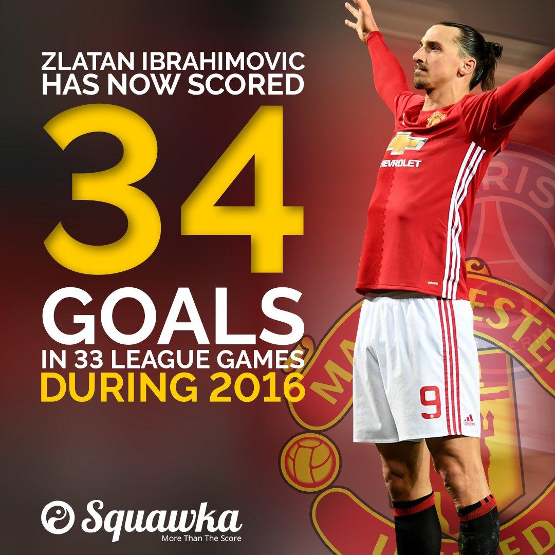 Zlatan Ibrahimovic has now scored 34 goals in 33 league games in 2016.  Like a fine wine. 🍷 https://t.co/1bX2VQLjc5