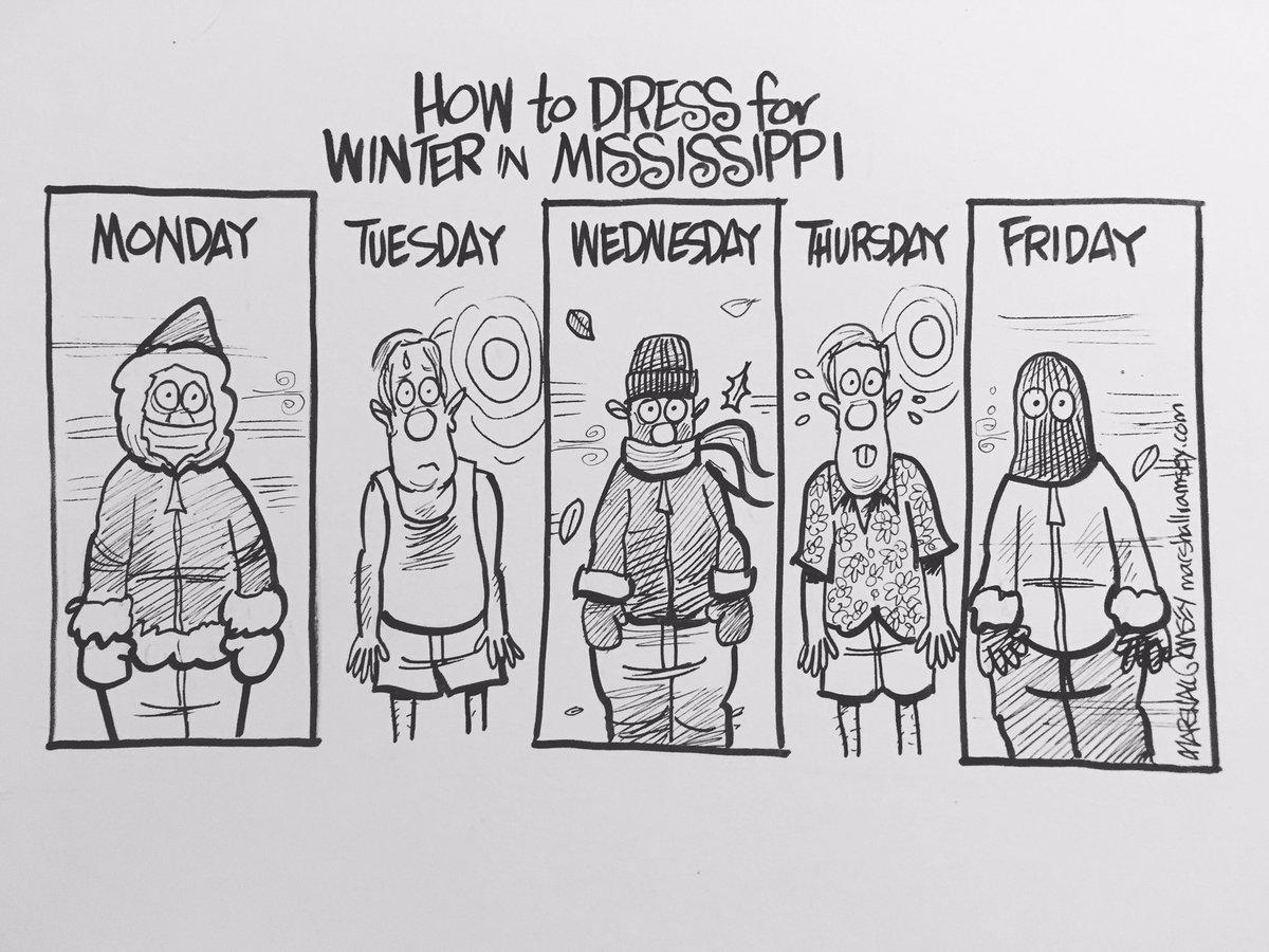 How to dress for winter in Mississippi. #mswx https://t.co/6IzDlSjJpL