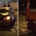 Car gets smashed up following accident with SBS bus along Paya Lebar Road