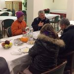 Pope Francis marks 80th birthday by sharing breakfast with homeless