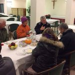 Pope Francis dines with homeless on 80th birthday