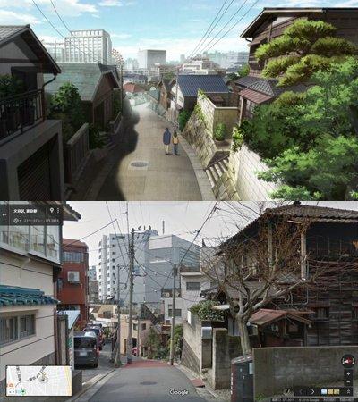 『舟を編む』馬締が暮らす下宿「早雲荘」は、実写映画版と同じく鳳明館寮でした。階段が描き足されたり、建物の構造も変えられて