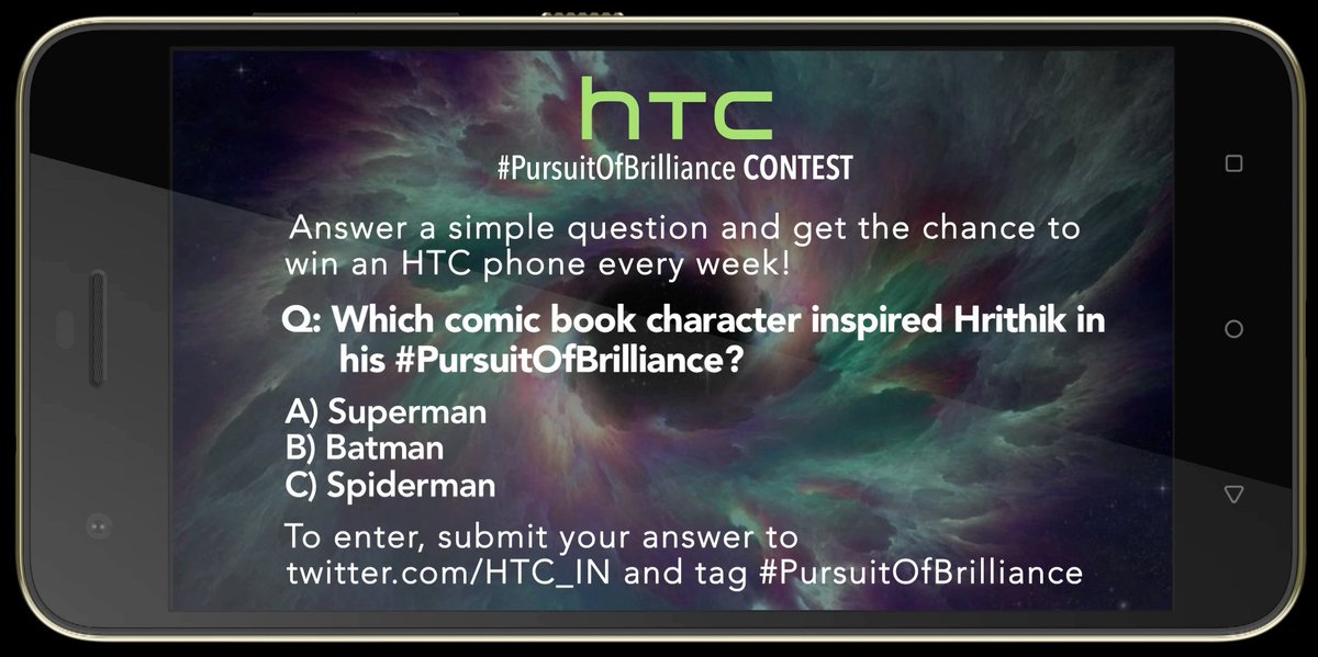 HTC #PursuitOfBrilliance contest is live now. @MissMalini @Vh1India #Vh1InsideAccess #HTCDesire10Pro https://t.co/9gUJ6vyqKZ