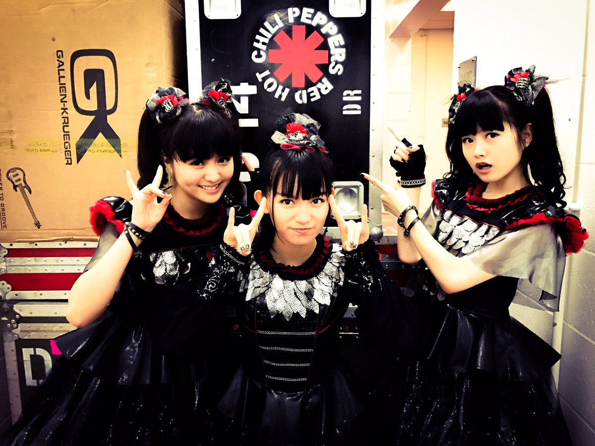 Tonight #BABYMETAL 's last show with #ChiliPeppers starts 7;00pm! Don't miss it! #UK #London #O2 ...
