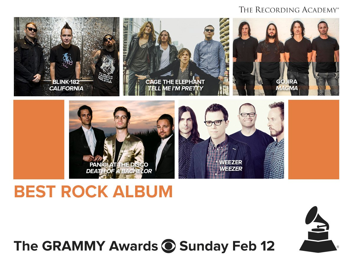 Congrats Best Rock Album nominees! #GRAMMYs https://t.co/xJoiIKwHef