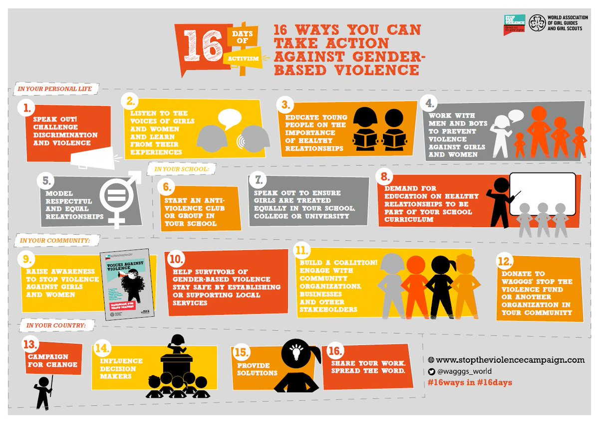 Don't forget, there are #16Ways you can take action to #StopTheViolence this #16Days!  #orangetheworld https://t.co/QuGlj0aqU1