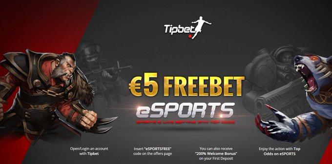 eSports Free Bet!  Get €5 free at Tipbet!  ➡️ https://t.co/HPePLa9hBI  #CSGO #LeagueOfLegends #Dota2 https://t.co/XB3Arh2jAP