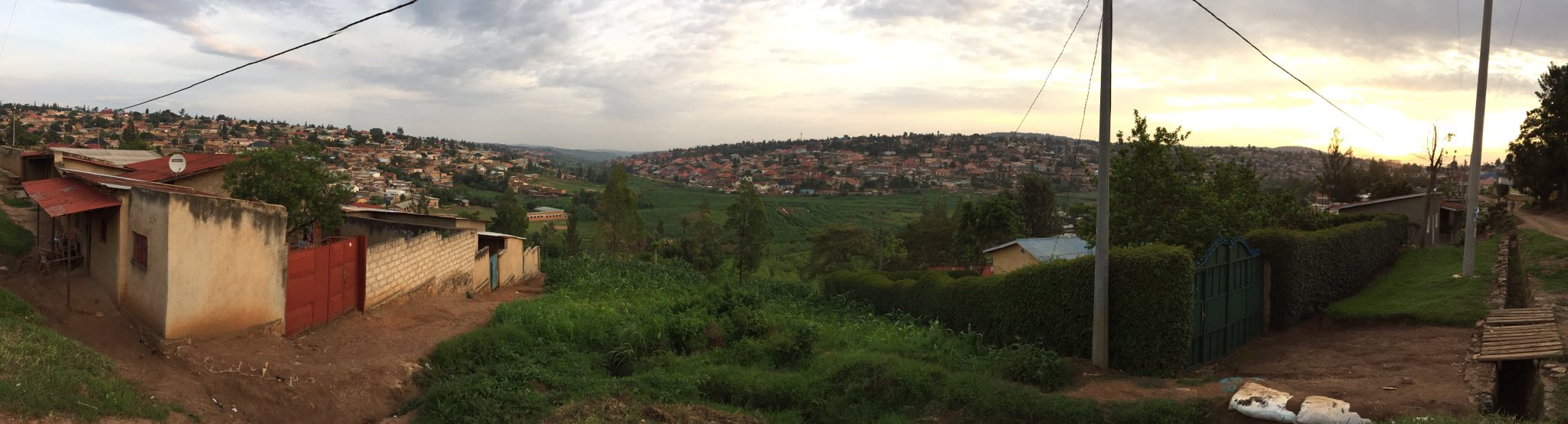 Went for a walk through Kigali suburbs just before sunset. Beautiful area. https://t.co/8pN81YO7kj