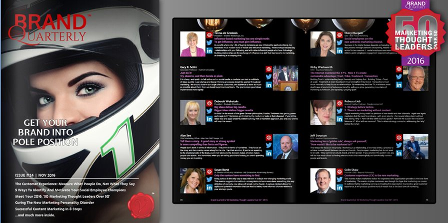 """#SOhonoured to be named to @BrandQuarterly's list of """"50 Marketing Thought Leaders Over 50""""  https://t.co/So49DIe6TJ https://t.co/XhOgLmJAZd"""