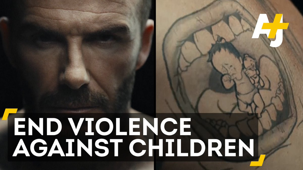 Every 5 minutes a child dies from violence. David Beckham makes a statement: