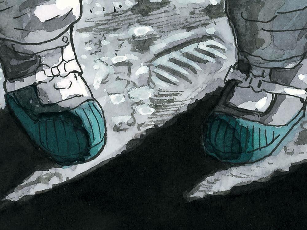 \\宇宙兄弟30巻の表紙が完成☆//30巻の表紙は誰なのか…描きあがったばかりの表紙の一部を公開!この足もと、もしかした