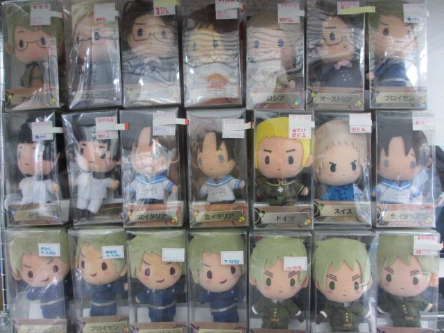 【らしんばん横浜店/グッズ入荷情報】横浜店では Axis Powers ヘタリア ぬいぐるみシリーズを大量展開中です!!